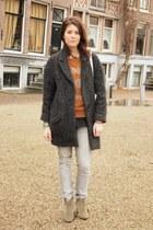 Isabel Marant coat - H&M jeans - VANESSA BRUNO jumper