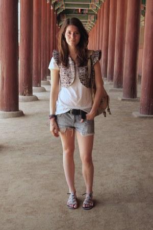 Isabel Marant vest - Mango shirt - H&M shorts