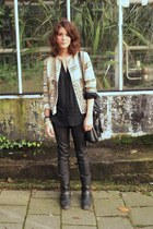 Antik Batik jacket - vintage boots - leather COS pants