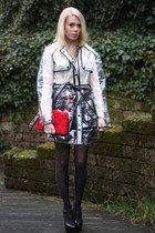 white see through Chiquelle coat