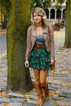 forest green Flat Black by Pegleg NYC skirt - vintage Dexter boots