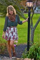 Steve Madden shoes - Urban Outfitters scarf - vintage levis belt - vintage skirt