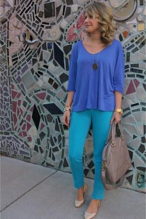 Forever 21 top - BDG jeans - H&M bag - Forever 21 flats