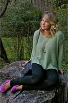 Forever 21 sweater - BDG jeans - Rebecca Minkoff bag - Michael Kors watch