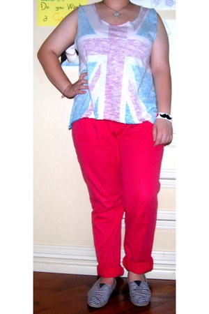 Zara top - TOMS shoes - Zara pants - Claires bracelet