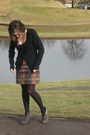 Black-urban-outfitters-dress-orange-vintage-skirt-gray-boots-black-comptoi