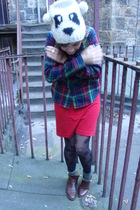 white River Island hat - red BDG shirt - red American Apparel dress - black Mark