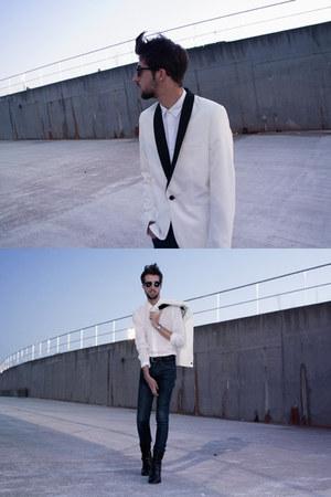 H&M blazer - Belmondo boots - H&M jeans - Zara shirt - Zara belt
