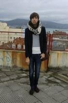 Massimo Dutti shoes - pull&bear jeans - Zara blazer - Zara scarf - pull&bear jum
