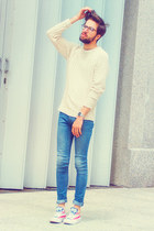 H&M jeans - H&M jumper - Converse sneakers - calvin klein glasses