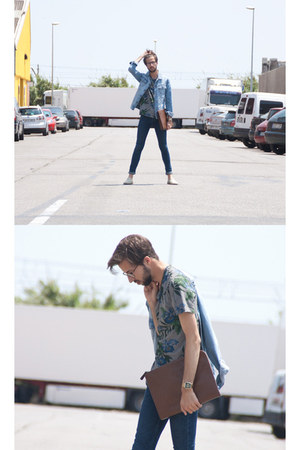 suiteblanco t-shirt - Riviera shoes - Topman jeans - pull&bear jacket