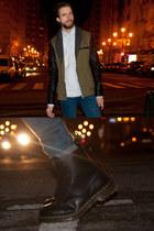 suiteblanco jacket - Dr Martens boots - Topman jeans - Zara shirt