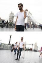 H&M boots - H&M jeans - Zara sunglasses - H&M t-shirt