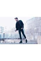 Zara bag - Dr Martens boots - DOREGO&NOVOA blazer - American Apparel socks