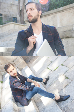 Zara blazer - Zara shoes - H&amp;M jeans - H&amp;M t-shirt