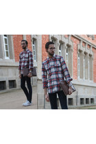 H&M shirt - River Island jeans - document case Zara accessories