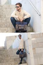 Zara bag - H&M boots - H&M jeans - Zara sunglasses - H&M jumper