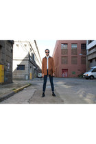 pull&bear coat - Zara shoes - River Island jeans - Zara shirt