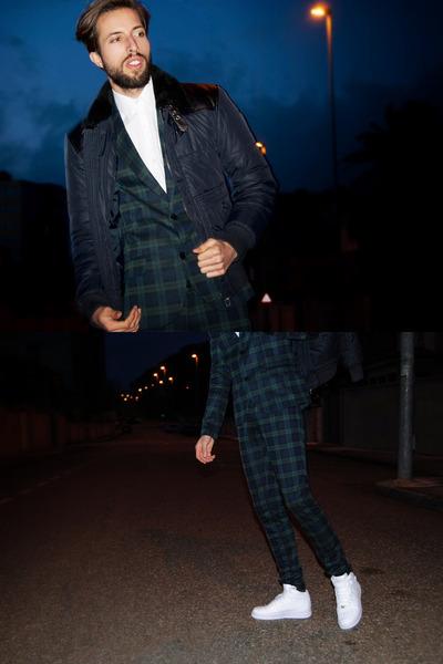 Zara jacket - Zara blazer - Zara pants - nike sneakers