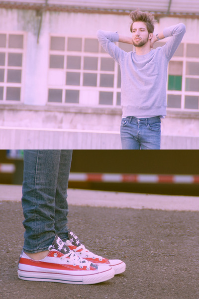 Converse sneakers - H&M jeans - Zara sweatshirt