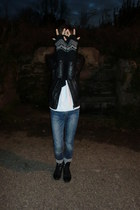 H&M gloves - Bershka jacket - pull&bear jumper - pull&bear jeans - pull&bear soc