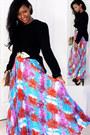Bag-skirt-vintage-belt-vintage-blouse-michael-kors-pumps
