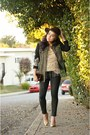 Black-metallic-sanctuary-jeans-olive-green-brocade-sanctuary-jacket