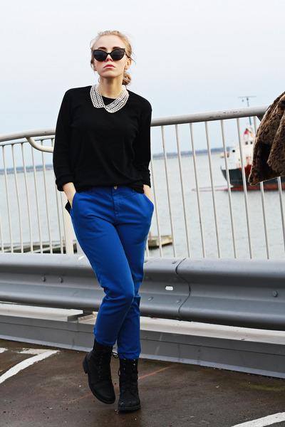 blue Topshop pants