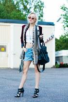 brick red velvet romwe blazer - tawny round romwe sunglasses
