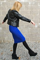 DKNY jacket - asoscom skirt - Jeffrey Campbell wedges