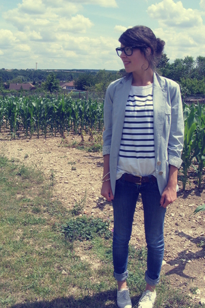 Zara blazer - andr shoes - Ray Ban shirt - glasses