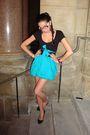 Blue-olivia-skirt-black-aldo-shoes-black-belt