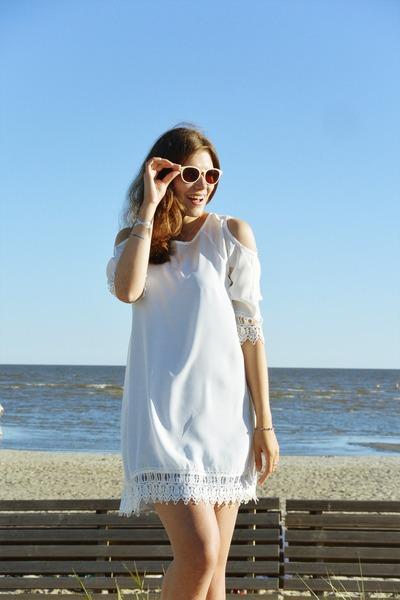 white style moi dress - eggshell asos sandals