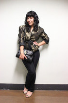 gold brocade christian dior blazer - Forever 21 accessories - Forever 21 pants