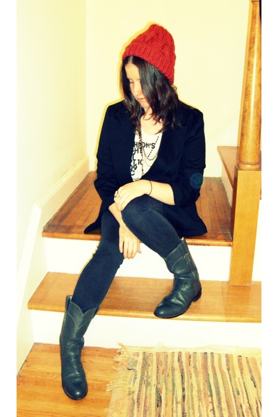 Urban Outfitters hat - thrifted blazer - Fashions Night Out t-shirt - CurrentEll