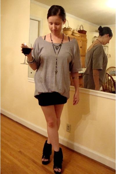 black Forever 21 skirt - black Forever 21 shoes - silver Forever 21 accessories