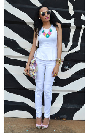 Woolworths jeans - peplum Mr Price top - SASS DIVA accessories