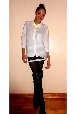 Mr Price skirt - Luella boots - Mr Price shirt - diva necklace