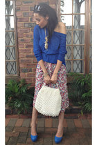 YDE dress - Woolworths sweater - vintage bag