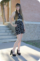 black Forever 21 shoes - black dress