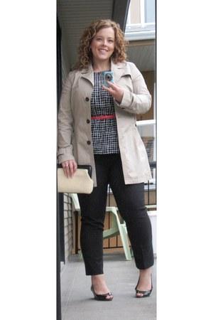 banana republic coat - shoes - liz claiborne purse - Smart Set belt