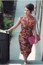 Nine-west-shoes-vintage-dress-unkown-purse