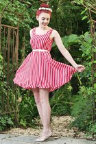 candy stripe yumi dress - headband Crown & Glory accessories - t-bar asos flats