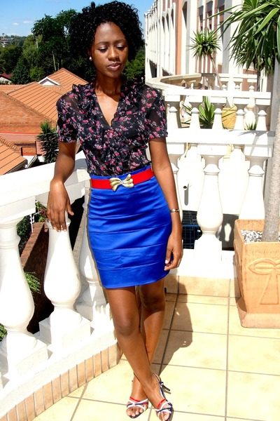 meltz blouse - 0xygen shoes - accessorise belt - Mr Price skirt