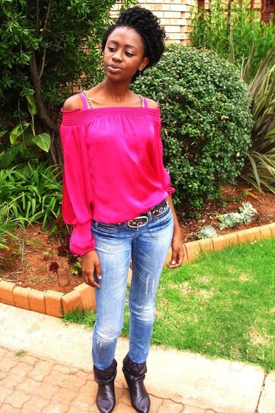 Truworths jeans - Zoot shoes - ginger mary belt - foschin1 shirt