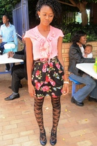 Foschini skirt - Aldo shoes - candy rocket stockings - Edgars shirt - www belt