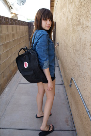 black flip flops Target shoes - black fjallraven kanken bag