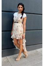 light pink storets dress - neutral Zara boots