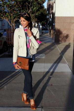 tawny Mia loafers - off white jack jacket