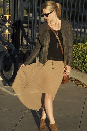 tan threadsence skirt - dark gray Nordstrom jacket